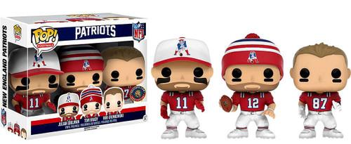 Funko NFL New England Patriots POP! Sports Football Tom Brady, Rob Gronkowski & Julian Edelman Exclusive Vinyl Figure 3-Pack