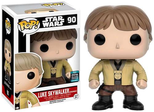 Funko A New Hope POP! Star Wars Luke Skywalker Exclusive Vinyl Bobble Head #90 [Ceremony]