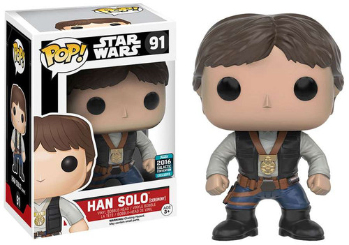 Funko A New Hope POP! Star Wars Han Solo Exclusive Vinyl Bobble Head #91 [Ceremony]