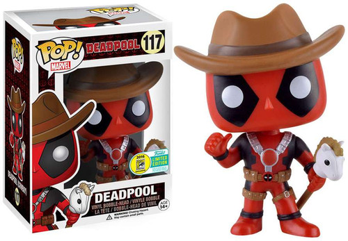 Funko POP! Marvel Deadpool Exclusive Vinyl Bobble Head #117 [Cowboy]