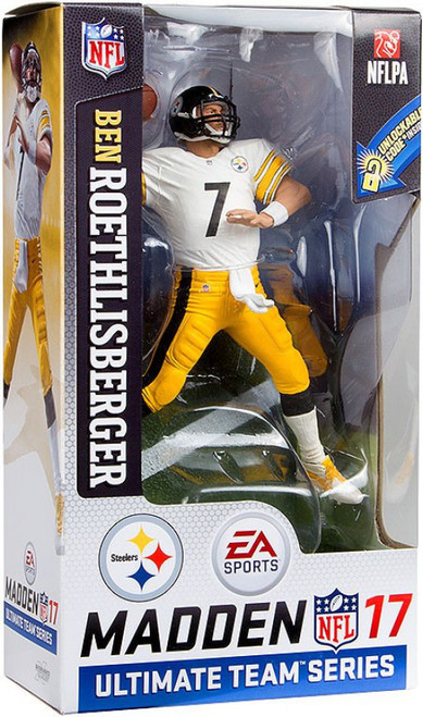 McFarlane Toys NFL Pittsburgh Steelers EA Sports Madden 17 Ultimate Team Series 2 Ben Roethlisberger Action Figure [White Jersey]