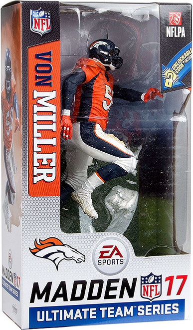 McFarlane Toys NFL Denver Broncos EA Sports Madden 17 Ultimate Team Series 2 Von Miller Action Figure [Orange Jersey]