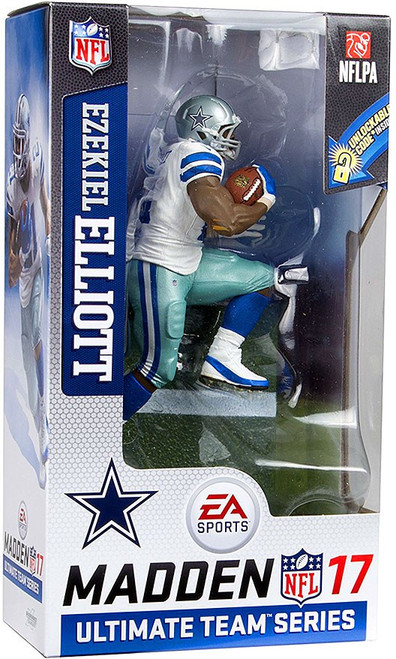 McFarlane Toys NFL Dallas Cowboys EA Sports Madden 17 Ultimate Team Series 2 Ezekiel Elliott Action Figure [White Jersey, Blue Pants]