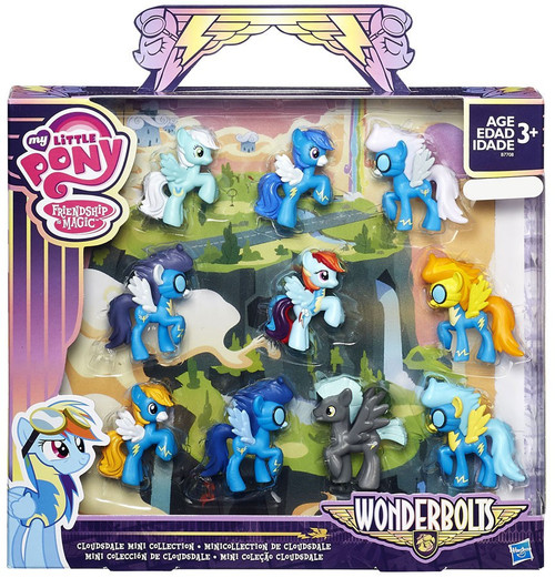 My Little Pony Friendship is Magic Wonderbolts Cloudsdale Mini Collection Exclusive 2-Inch Mini Figure 10-Pack