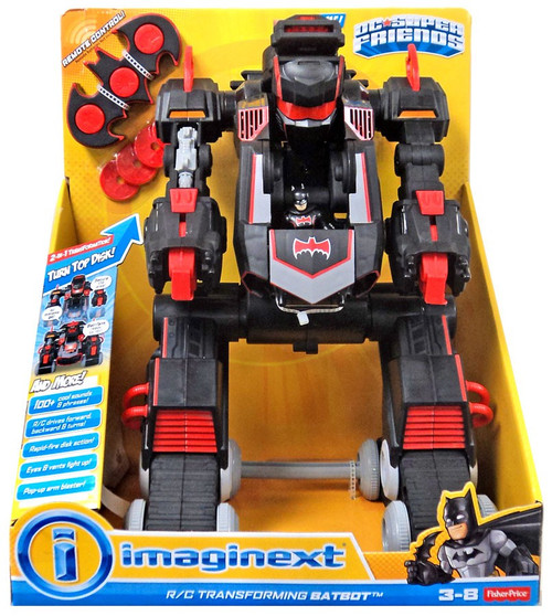 Fisher Price DC Super Friends Imaginext R/C Transforming Batbot Vehicle [Black & Red]