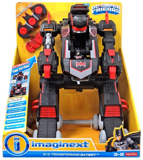 Fisher Price DC Super Friends Imaginext R/C Transforming Batbot Vehicle [Black & Red]