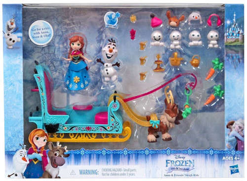 Disney Frozen Little Kingdom Anna & Friends' Sleigh Ride Playset