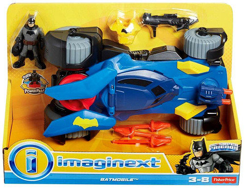 Fisher Price DC Super Friends Imaginext Batmobile 3-Inch Figure Set [Blue]