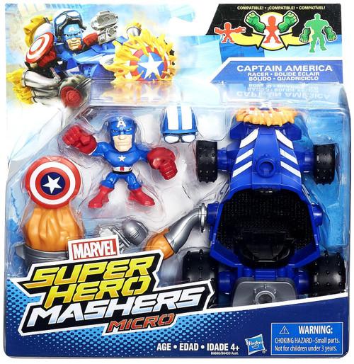 Marvel Super Hero Mashers Micro Captain America & Racer Mini Figure Set