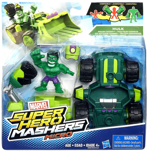 Marvel Super Hero Mashers Micro Hulk & Smash Dozer Mini Figure Set