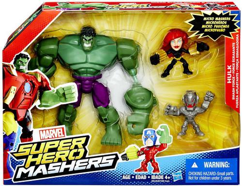 Marvel Super Hero Mashers Hulk Smash Force Figure Set [Micro Ultron & Black Widow]