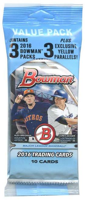 MLB Topps 2016 Bowman Baseball Trading Card VALUE Pack