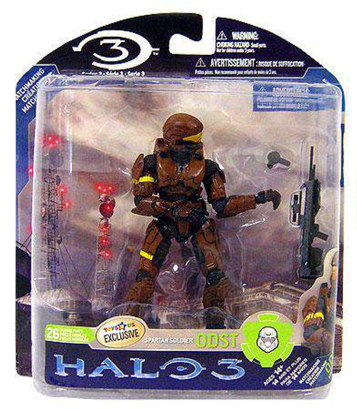McFarlane Toys Halo 3 Series 3 Spartan Soldier ODST Exclusive Action Figure [Brown, Damaged Package]