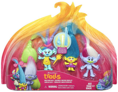 Trolls Troll Town Wild Hair Figure 4-Pack
