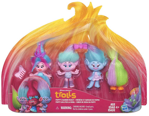 Trolls Troll Town Poppy's Fashion Frenzy Figure 4-Pack