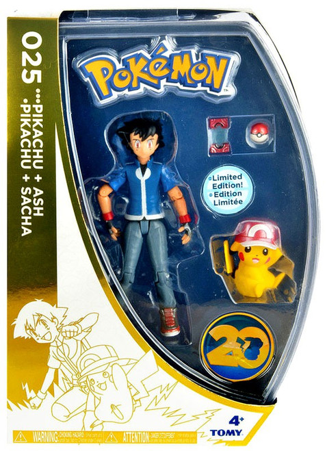 Pokemon 20th Anniversary Ash & Pikachu Exclusive Action Figure
