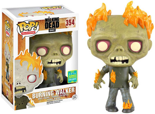 Funko The Walking Dead POP! TV Burning Walker Exclusive Vinyl Figure #354