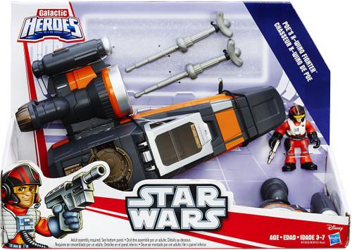 Star Wars The Force Awakens Galactic Heroes Poe Dameron's X-Wing Vehicle [Gray & Orange Ship]