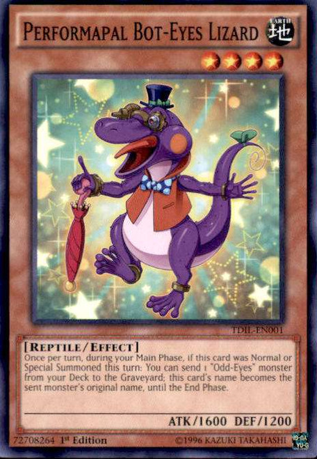 YuGiOh The Dark Illusion Common Performapal Bot-Eyes Lizard TDIL-EN001