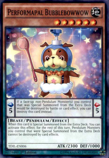 YuGiOh The Dark Illusion Common Performapal Bubblebowwow TDIL-EN006