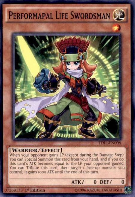YuGiOh The Dark Illusion Common Performapal Life Swordsman TDIL-EN008