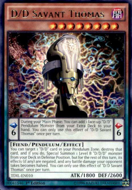 YuGiOh The Dark Illusion Rare D/D Savant Thomas TDIL-EN010