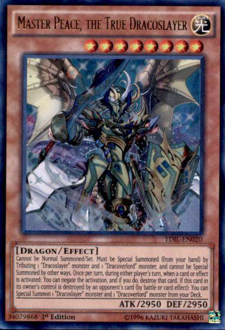 YuGiOh The Dark Illusion Ultra Rare Master Peace, the True Dracoslayer TDIL-EN020