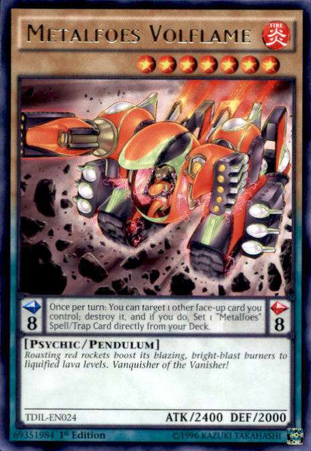 YuGiOh The Dark Illusion Rare Metalfoes Volflame TDIL-EN024