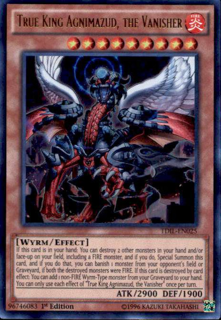YuGiOh The Dark Illusion Ultra Rare True King Agnimazud, the Vanisher TDIL-EN025