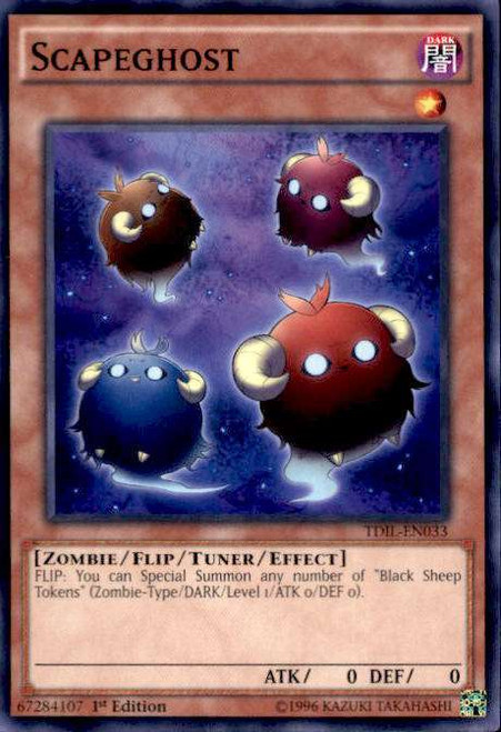 YuGiOh The Dark Illusion Common Scapeghost TDIL-EN033