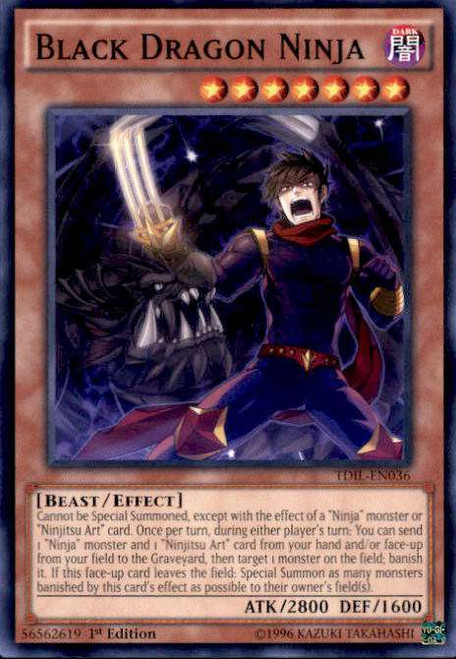 YuGiOh The Dark Illusion Common Black Dragon Ninja TDIL-EN036