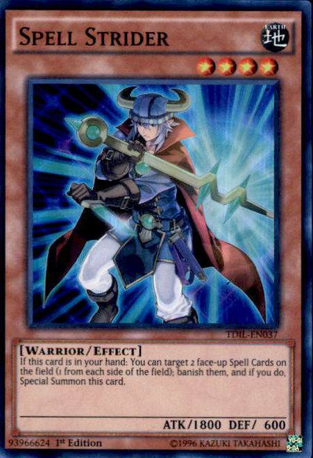 YuGiOh The Dark Illusion Super Rare Spell Strider TDIL-EN037