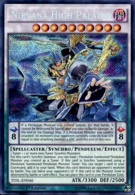 YuGiOh The Dark Illusion Secret Rare Nirvana High Paladin TDIL-EN046