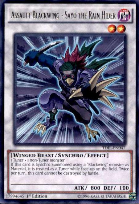 YuGiOh The Dark Illusion Rare Assault Blackwing - Sayo the Rain Hider TDIL-EN047