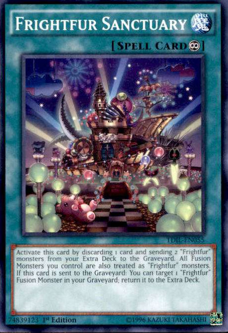 YuGiOh The Dark Illusion Common Frightfur Sanctuary TDIL-EN055