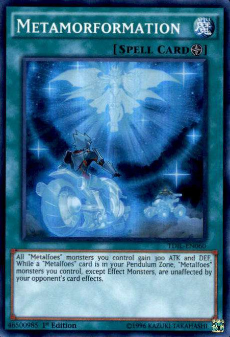 YuGiOh The Dark Illusion Super Rare Metamorformation TDIL-EN060