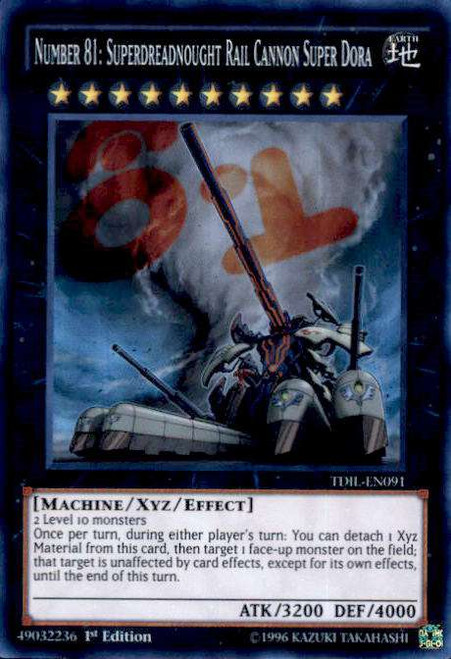 YuGiOh The Dark Illusion Super Rare Number 81: Superdreadnought Rail Cannon Super Dora TDIL-EN091