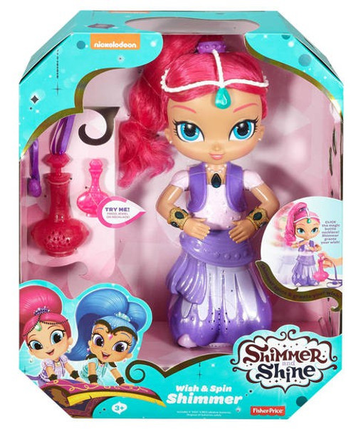 Fisher Price Shimmer & Shine Wish & Spin Shimmer Deluxe Doll