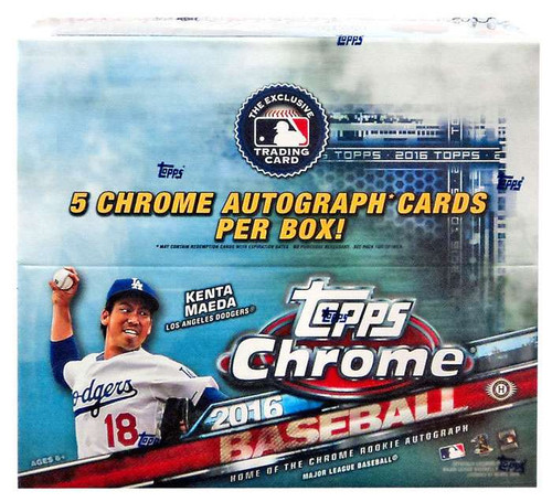 MLB Topps 2016 Chrome Baseball Trading Card JUMBO HOBBY Box [12 Packs]