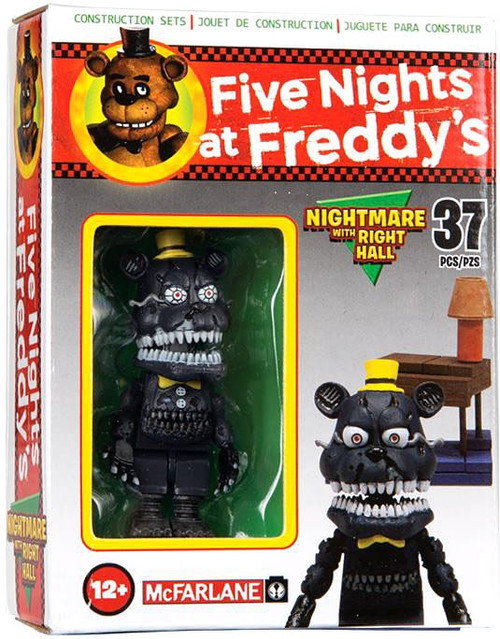 McFarlane Toys Five Nights at Freddy's Nightmare with Right Hall Micro Figure Build Set