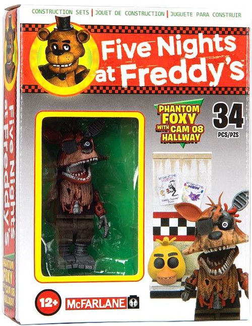 McFarlane Toys Five Nights at Freddy's Phantom Foxy with Cam 08 Hallway Micro Figure Build Set