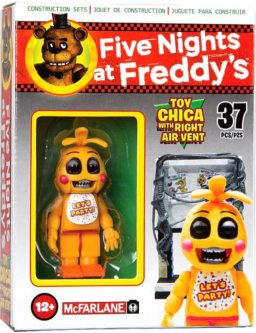McFarlane Toys Five Nights at Freddy's Toy Chica with Right Air Vent Micro Figure Build Set
