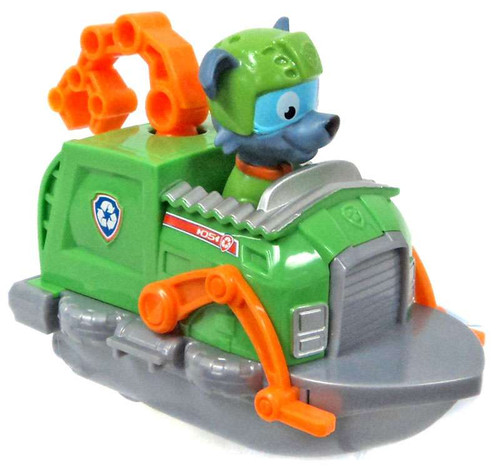 Paw Patrol Racer Rocky in Recycle Boat Figure [Figure Does Not Come Out!]