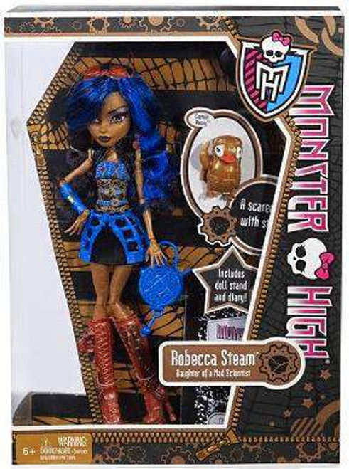 Monster High Robecca Steam 10.5-Inch Doll [With Captain Penny, Damaged Package]