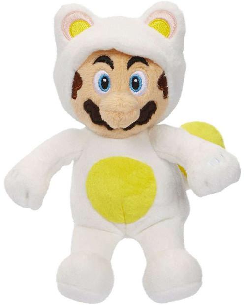 World of Nintendo Super Mario Mario 8-Inch Plush [White Tanooki Suit]