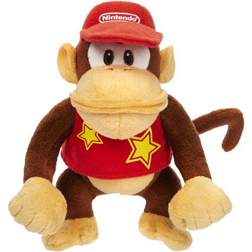 World of Nintendo Super Mario Diddy Kong 7-Inch Plush