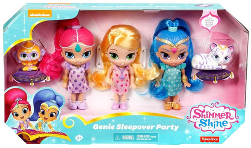 Fisher Price Shimmer & Shine Genie Sleepover Party Exclusive 5-Inch Doll 3-Pack
