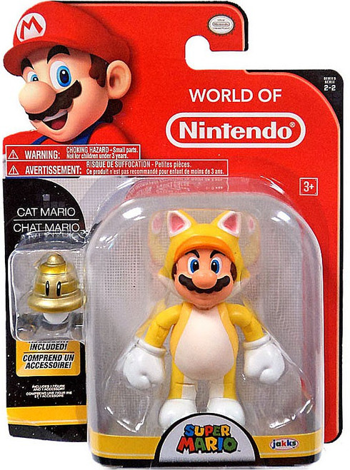 World of Nintendo Super Mario Cat Mario with Bell Action Figure