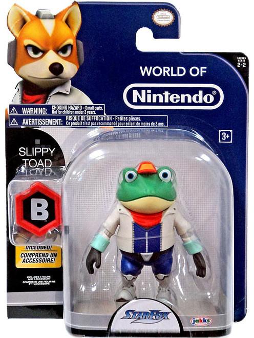 World of Nintendo Starfox Slippy Toad Action Figure