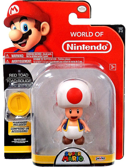 World of Nintendo Super Mario Red Toad Action Figure